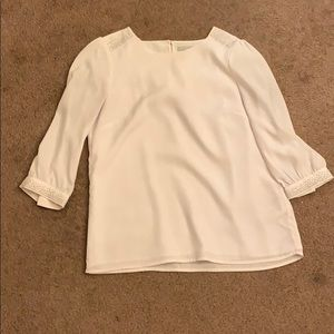 H&M white blouse with silver detailing